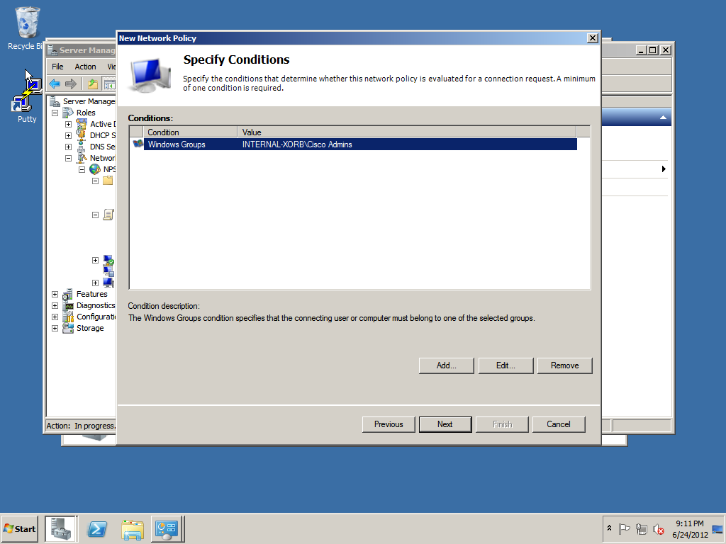 Condition with Windows Group